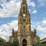 Cathedral In San Sebastian Is The Largest Religious Structure In The Basque Country Poster