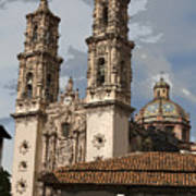 Cathedral In Taxco Mexico Poster