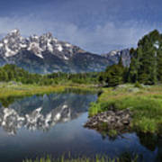 Grand Teton Cathedral Reflections Poster