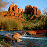 Cathedral Rock At Redrock Crossing Poster