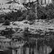 Cathedral Rock Black And White Number Seven Poster
