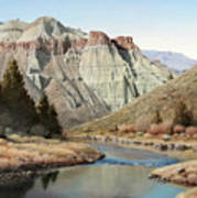 Cathedral Rock John Day River Poster