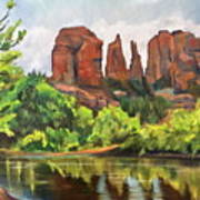 Cathedral Rocks In Crescent Moon Park Poster