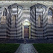 Cathedral Side Door Orvieto Italy Poster