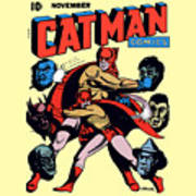 Catman And Kitten Square Format Poster