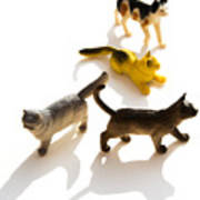 Cats Figurines Poster