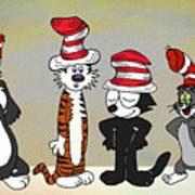 Cats In Hats Too Poster