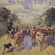 Cattle Drive Down Marion Avenue 1903 Sketch Poster