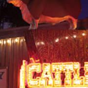 Cattlemen's Neon Stock Yards Poster