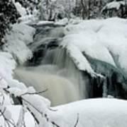 Cattyman Falls In Winter - Vertical Poster