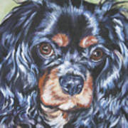 Cavalier King Charles Spaniel Black And Tan Poster by Lee Ann Shepard