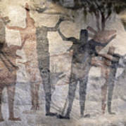 Cave Painting Of Prehistoric Man Poster