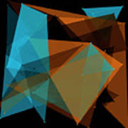 Cave Polygon Pattern Poster