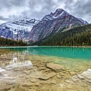 Cavell Lake Jasper Poster