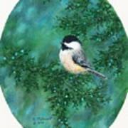 Cedar Chickadees - Bird 2 Poster