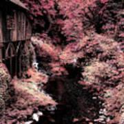 Cedar Creek Grist Mill Soft Burgundy Poster