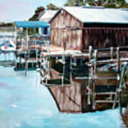 Cedar Key Reflections 2 Poster