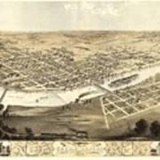Cedar Rapids Iowa 1868 Poster