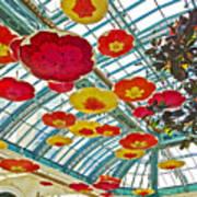 Ceiling Of Bellagio Conservatory In Las Vegas-nevada Poster