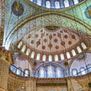 Ceiling Of Blue Mosque Poster