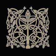Celtic Leaves Knots One Poster