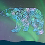 Celtic Polar Bear Poster by Kristen Fox