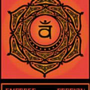 Celtic Tribal Sacral Chakra Poster