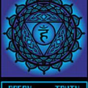 Celtic Tribal Throat Chakra Poster