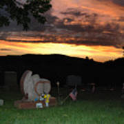 Cemetery Sunset. Poster