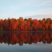 Centennial Lake Autumn - In Full Autumn Bloom Poster