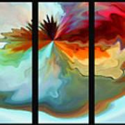 Center Piece 'triptych' Poster by Terril Heilman