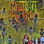 Central B B Q # 3- Memphis Poster