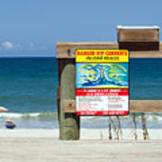 Central Florida Beach Warning Poster
