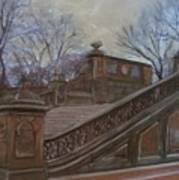 Central Park Bethesda Staircase Poster