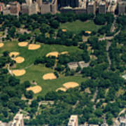 Central Park North Meadow In New York City Aerial View Poster