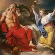 Ceres Begging For Jupiter's Thunderbolt After The Kidnapping Of Her Daughter Proserpine Poster