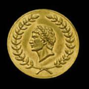 Julius Cesar Roman Coin Poster