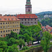 Cesky Krumlov Castle Complex In The Czech Republic Poster