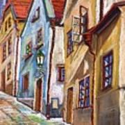 Cesky Krumlov Old Street 2 Poster by Yuriy  Shevchuk