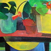 Cezanne Potting Stand Poster by Betty Pieper
