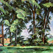 Cezanne: Trees, C1885-87 Poster