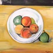 Cezannes Fruit Bowl Poster
