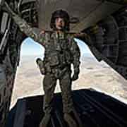 Ch-47 Chinook Crew Chief Stands Poster
