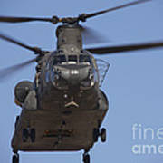Ch-47 Chinook Flies Over Playas Poster