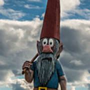 Chainsaw Art Gnome Poster