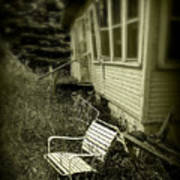 Chair In Grass Poster