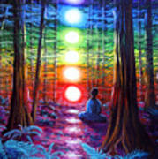 Chakra Meditation In The Redwoods Poster