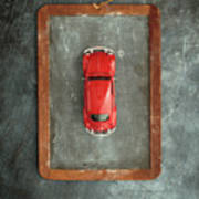 Chalkboard Toy Car Poster