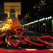 Champs Elysee In Paris Poster