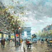 Champs Elysees Avenue, Paris Poster